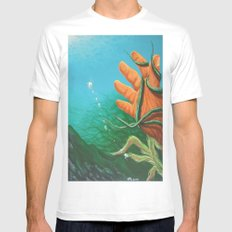 The Drowning White MEDIUM Mens Fitted Tee