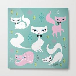 Swanky Kittens Metal Print