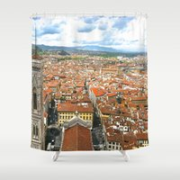 florence Shower Curtains featuring Florence by NatalieBoBatalie