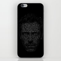house md iPhone & iPod Skins featuring House MD Quotes Print (It's never lupus) by Olechka