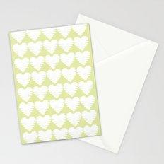 Heart pattern / yellow / luminary green Stationery Cards
