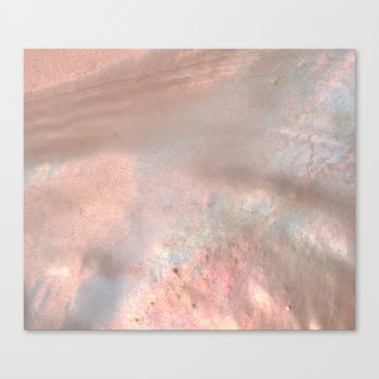 Mother of pearl in rose gold Canvas Print