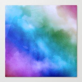 Watercolor Rainbow Mixed Media Canvas Print