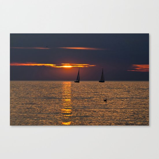 Summer sunset on the Baltic Sea Canvas Print