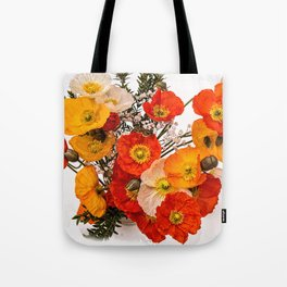Stunning Vibrant Yellow Orange Poppies Tote Bag