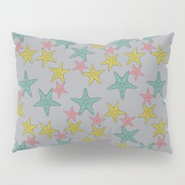 Starfish gray background Pillow Sham