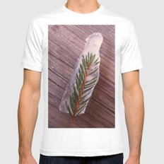 Green in Ice MEDIUM Mens Fitted Tee White