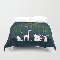 forest Duvet Covers featuring Re-paint the Forest by Picomodi