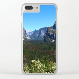 Bridal Veil Falls From Tunnel View Point - Yosemite Valley Clear iPhone Case