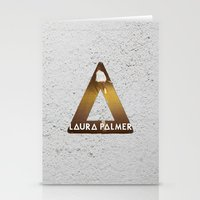 laura palmer Stationery Cards featuring Bastille #1 Laura Palmer by Thafrayer