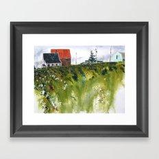 houses at the Cap Framed Art Print