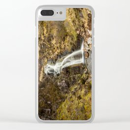 Moorland Waterfall Clear iPhone Case