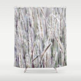 Silver hair grass Shower Curtain