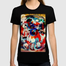 Abstract Action American Painting T-shirt