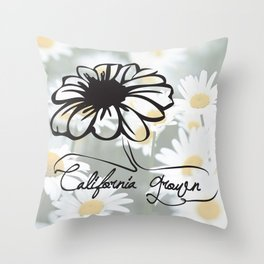 california grown daisy Throw Pillow