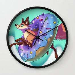 Donut Fox Wall Clock