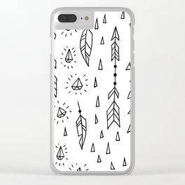 Diamonds, arrows & feathers Clear iPhone Case