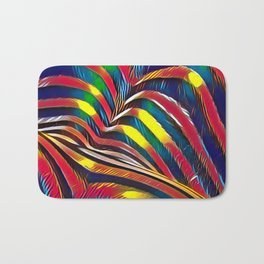 2602s-AK Nude Body Back Striped Abstraction Bright Color Pastel by Chris Maher Bath Mat