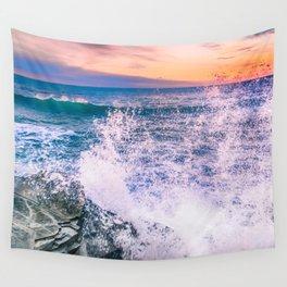 Surf Atlantic Rocky Coast Wall Tapestry
