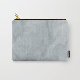 Elegant Blue Grey Marble Carry-All Pouch
