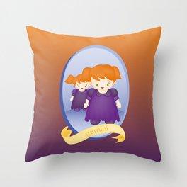 Gemini Child Zodiac Sign Illustration Throw Pillow