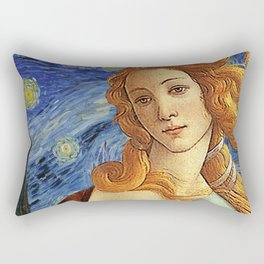 Venus with a Ermine in a Starry Night Rectangular Pillow