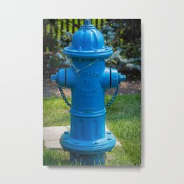 Blue Centurion Fire Hydrant Fire Plug Metal Print