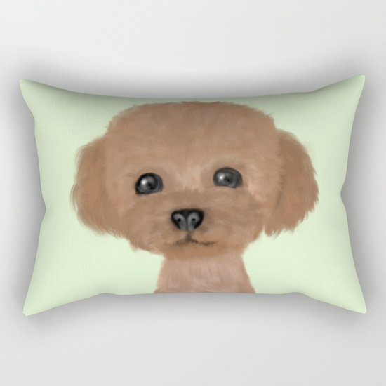 poodle hair cut Rectangular Pillow by Ultimawiz Society6