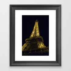 Eiffel Tower @ Night Framed Art Print