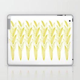 Growing Leaves: Golden Yellow – White background Laptop & iPad Skin