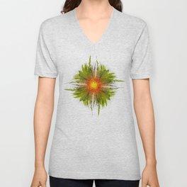 The Fireflower Swirl Unisex V-Neck