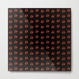 Flame Pattern Red Orange Metal Print