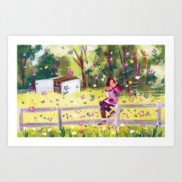 Leaf Whistler Art Print