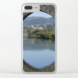 Portugal, the Costa Verde, Ponte de Lima bridge Clear iPhone Case