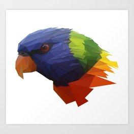 Low Poly Parrot Art Print