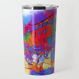 Street Scene In Soft Abstract Travel Mug