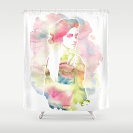 Emma Watson Watercolor Shower Curtain