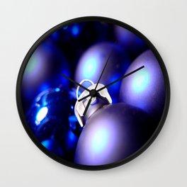 Christmas Ornaments : Blue Christmas Wall Clock