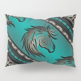 Horse Nation (Aqua) Pillow Sham