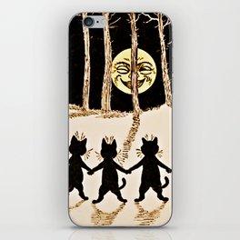 Cats & a Full Moon-Louis Wain Black Cats iPhone Skin