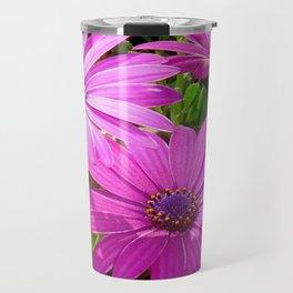 Purple And Pink Tropical Daisy Flower Travel Mug