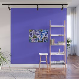 Purple blue tulips blooming abstract Wall Mural