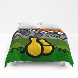 Duck Mountaintop Sunset Date | Veronica Nagorny Comforters
