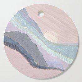 pink sunrise Cutting Board