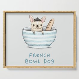 French Bowl Dog Serving Tray
