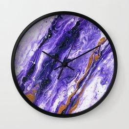 Chevron Amethyst 2 Wall Clock