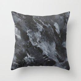 White Ink on Black Background #3 Throw Pillow