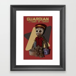 Guardian of the Tower of Terror by Topher Adam 2017 Framed Art Print