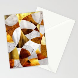 Curves - Silver and Gold Stationery Cards