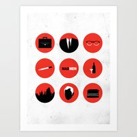 mad men Art Prints featuring Mad Men by magicblood